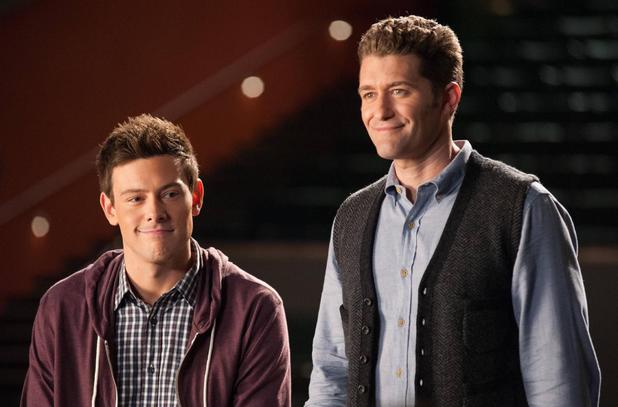 GLEE - 'Lights Out' (S04E20): Cory Monteith as Finn and Matthew Morrison as Will