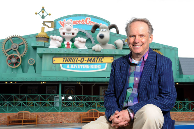 Nick Park opens Blackpool's Wallace & Gromit ride