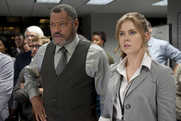 Laurence Fishburne Perry White Amy Adams Lois Lane