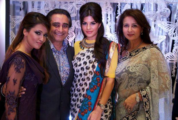 Jacqueline Fernandez, Sanjeev Bhaskar and Poonam Dhillon