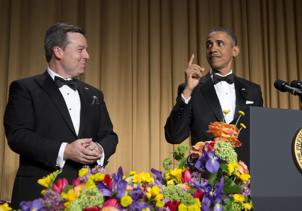 President Barack Obama and White House Correspondent Association President Ed Henry.