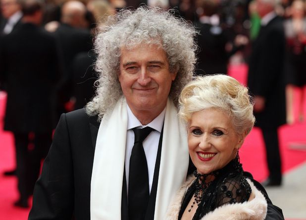 The Olivier Awards 2013: Brian May and Anita Dobson.