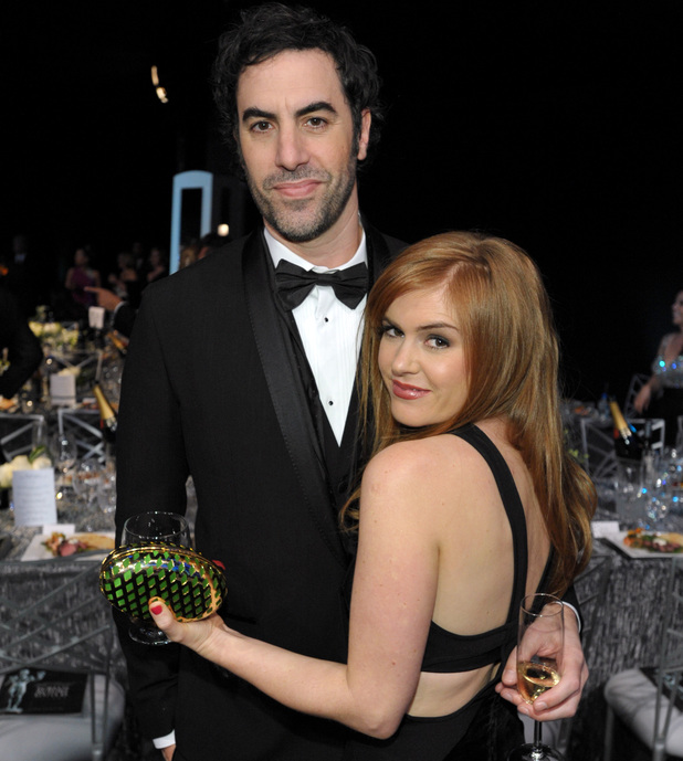 Sacha Baron Cohen and Isla Fisher at the 19th Annual Screen Actors Guild Awards in LA, January 2013
