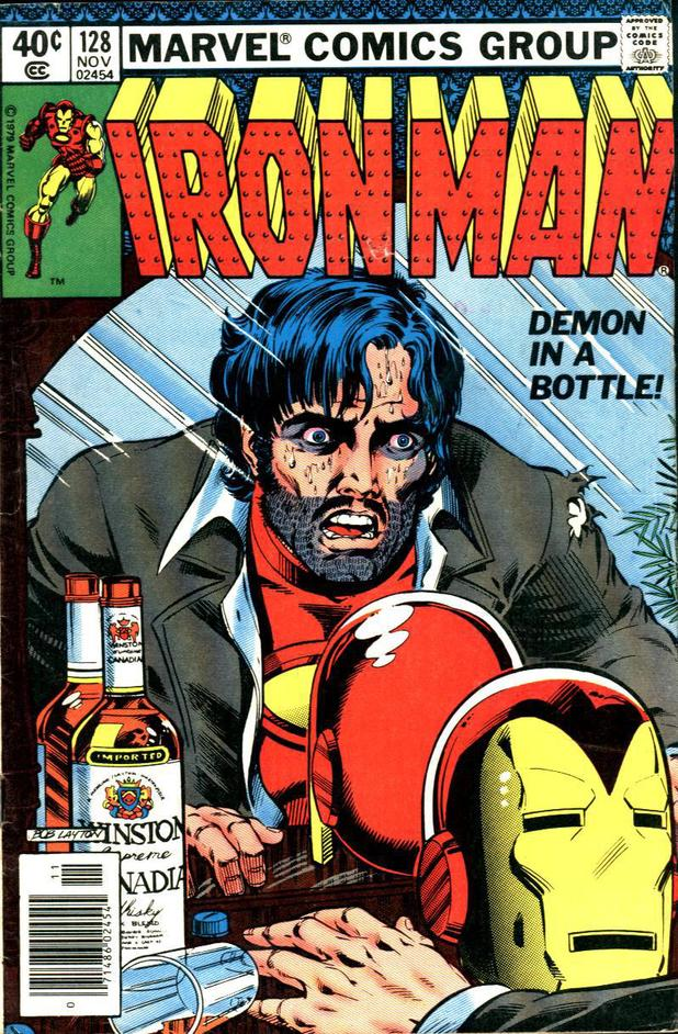 Cover artwork for Iron Man #128: 'Demon In A Bottle'