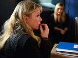 Tanya goes to the R&R to confront Sharon over her missing pills.