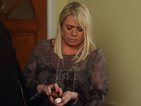 Sharon's stress escalates at the dinner party