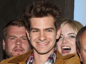 "James Corden, Andrew Garfield, Emma Stone, opening night after party for the Brits Off Broadway production of ""Bull"""