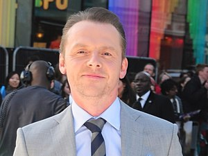 Simon Pegg arriving for the premiere of Star Trek Into Darkness at the Empire Leicester Square, London.