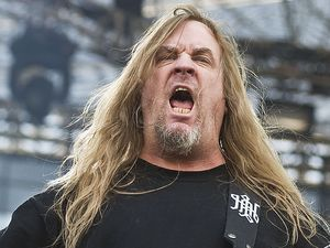 Slayer guitarist Jeff Hanneman at the Sonisphere Festival 2010 in Poland