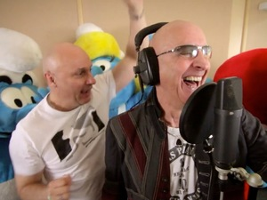 Right Said Fred record 'I'm too Smurfy' for Global Smurfs Day