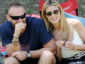 Martin Kristen and Heidi Klum spotted with Tiffany rings