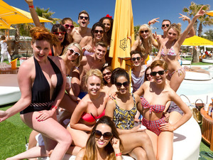 'Hollyoaks' cast in Ibiza