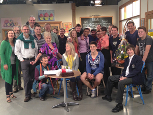 Neighbours cast and crew gather for Sachin Joab's farewell