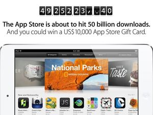 Apple App store counts down to 50 billion downloads