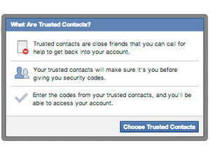 Facebook - Trusted Contacts