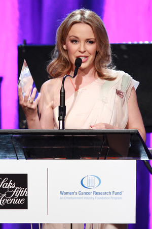 Kylie Minogue, maxi dress, courage award, Women's Cancer Research Fund, Los Angeles
