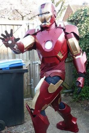 Homemade Iron Man costume