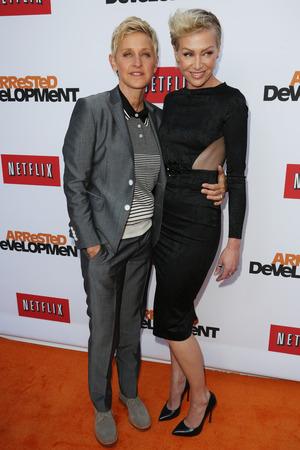 Portia de Rossi, Ellen Degeneres, Netflix's Arrested Development' Season 4 premiere, Los Angeles