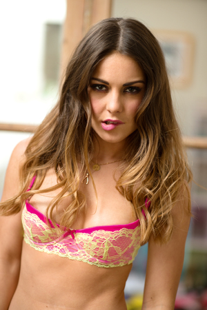 Louise Thompson photo shoot for FHM magazine
