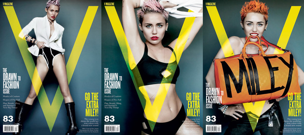 Miley Cyrus on the cover of V Magazine