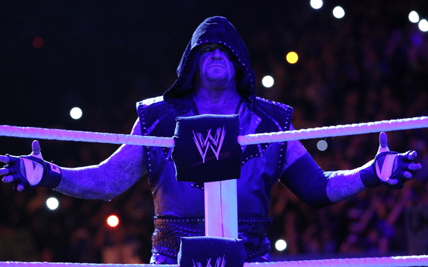 The Undertaker at WWE Raw at The O2 in London