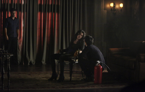 Paul Wesley as Stefan, Nina Dobrev as Elena, and Ian Somerhalder as Damon in The Vampire Diaries S04E21: 'She's Come Undone'