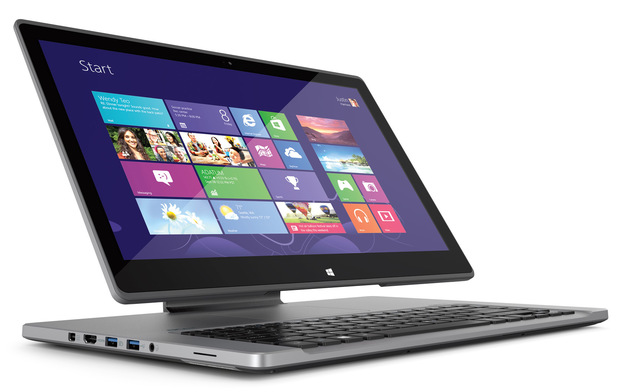 "Acer Aspire R7 in ""Ezel"" mode"