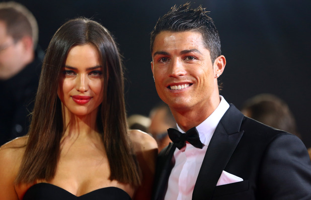 Footballer Cristiano Ronaldo and his girlfriend Irina Shayk