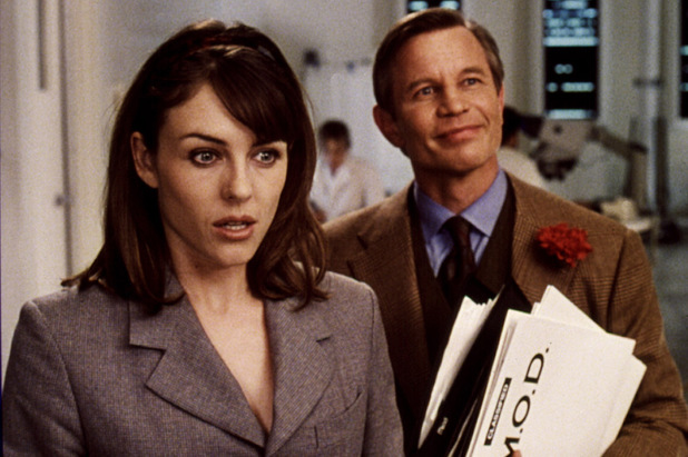 Actor Michael York alongside Liz Hurley in 'Austin Powers'