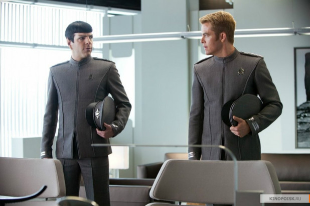 Spock (Zachary Quinto) and Kirk (Chris Pine) in 'Star Trek Into Darkness'