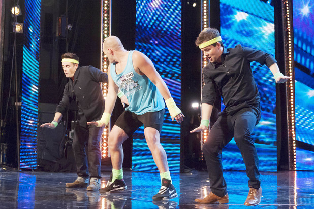 Britain's Got Talent Episode 4: Scott Whitley is joined on stage by Ant & Dec