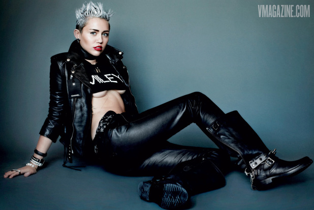 Miley Cyrus poses for V Magazine
