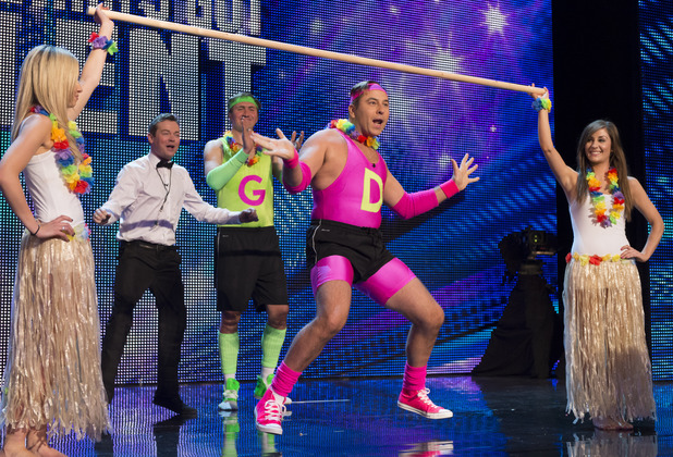 Britain's Got Talent  - Episode 4: David Walliams does the limbo