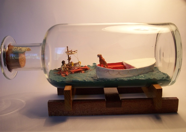 Life of Pi in a bottle