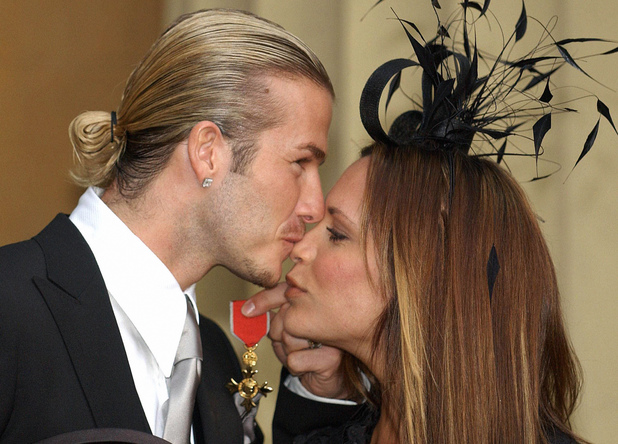 David Beckham, Victoria Beckham, OBE, e received from Queen Elizabeth II at London's Buckingham Palace. The former Manchester United star, who now plays for Real Madrid, said recently: 'I am honoured and privileged to receive this recognition. It's not just for me but for Manchester United, England, all of my team mates and my family'.