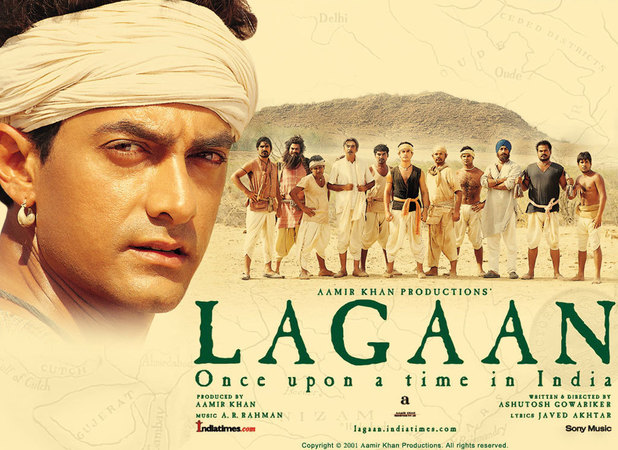 A poster for the movie 'Lagaan'