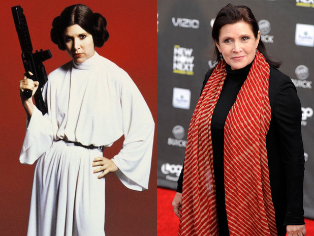 Carrie Fisher: Then & Now