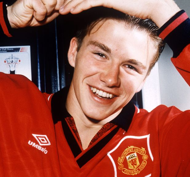 David Beckham, 1996, hair, combing, Manchester United