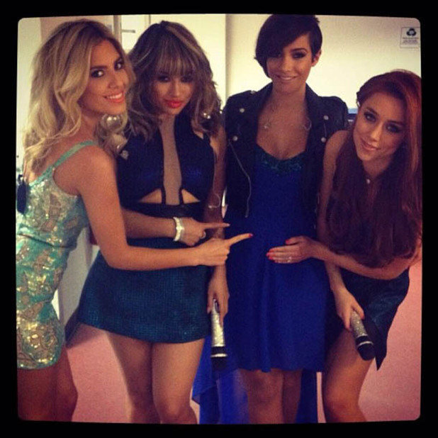 The Saturdays celebrate Frankie Sandford's pregnancy