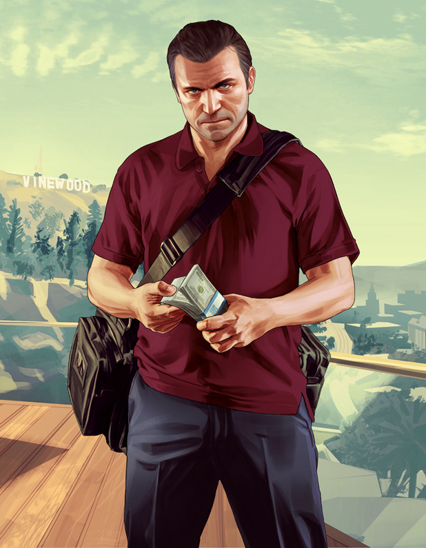 'Grand Theft Auto 5' concept art: Michael counting money