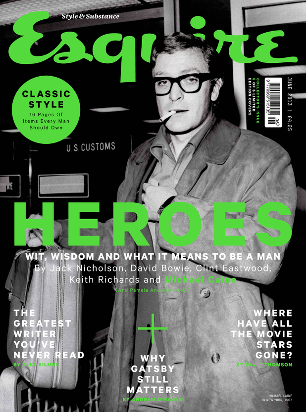 Michael Caine fronts 'Esquire' magazine