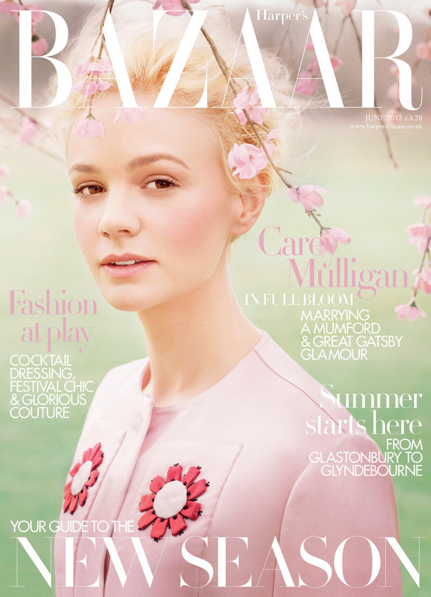 Carey Mulligan covers the June issue of Harper's Bazaar