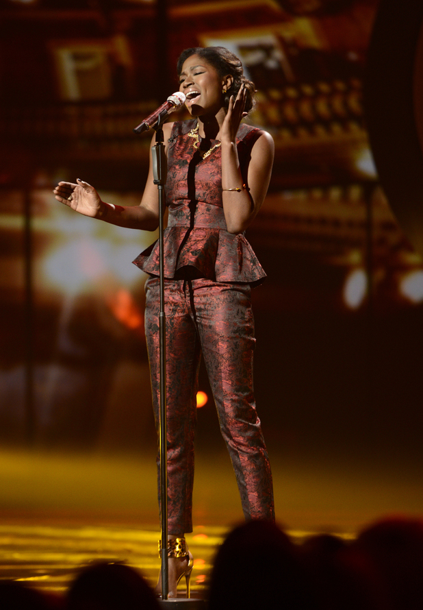 Amber Holcomb performs in 'American Idol' semi-final