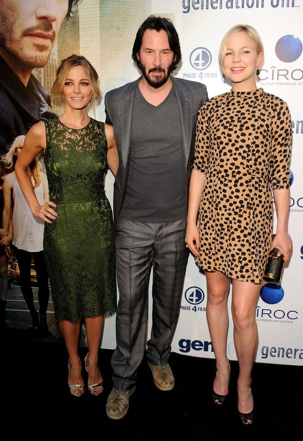 Bojana Novakovic, Keanu Reeves and Adelaide Clemens