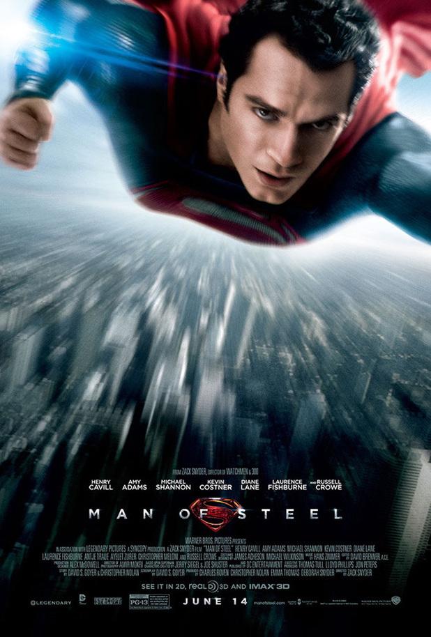 Henry Cavill Man of Steel poster