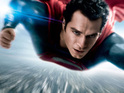 The latest poster shows Henry Cavill flying above a blurred cityscape.