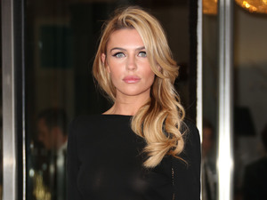Abbey Clancy, sheer dress, Ledley King Testimonial Gala dinner, London Hilton hotel