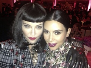 Madonna and Kim Kardashian pose for a photo at the Met Ball