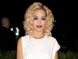 Rita Ora, 2013 Met Ball, Costume Institute Gala Benefit celebrating the Punk: Chaos To Couture exhibition, Metropolitan Museum of Art, New York, Thakoon dress