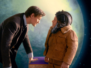 The Doctor (Matt Smith) and Porridge (Warwick Davis) in Doctor Who S07E07: 'Nightmare in Silver'